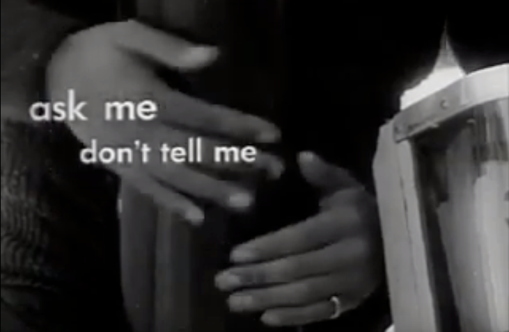 Ask Me, Don't Tell Me - 1961