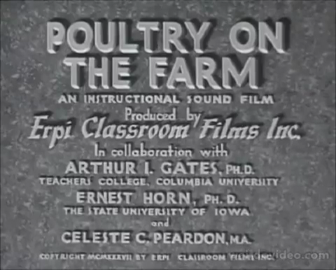 Poultry on the Farm - 1937