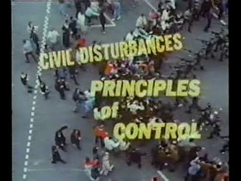 Civil Disturbances: Principles of Control - 1968