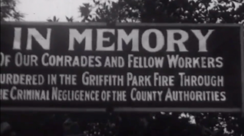Newsreel: Griffith Park Fire Disaster Protest - 1933