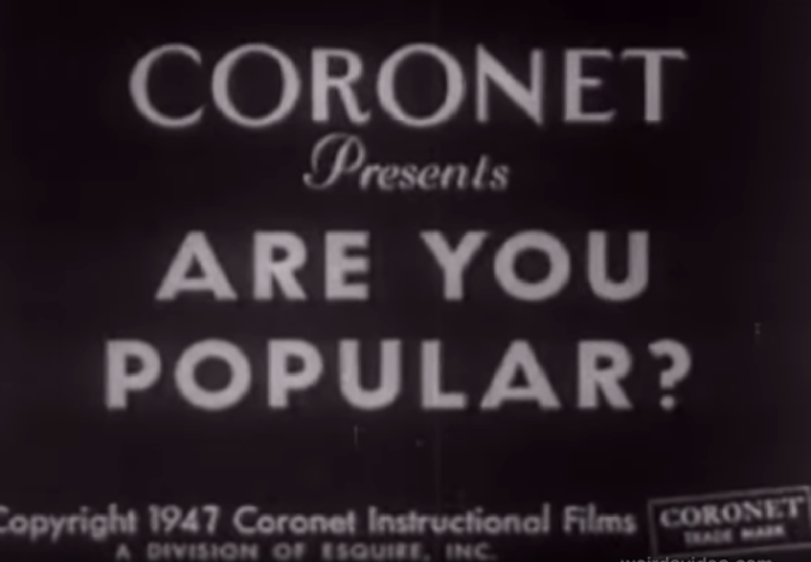 Are You Popular? - 1947