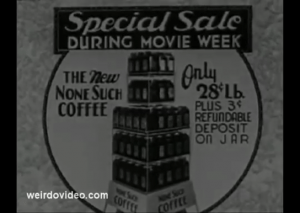 None Such Coffee - 1934