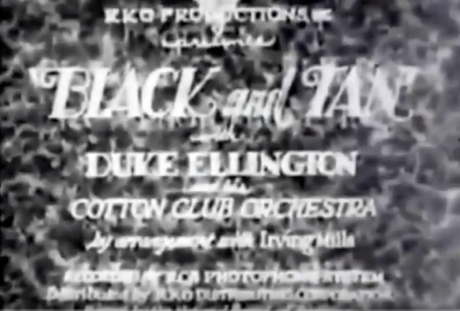 Duke Ellington's Black and Tan - 1929