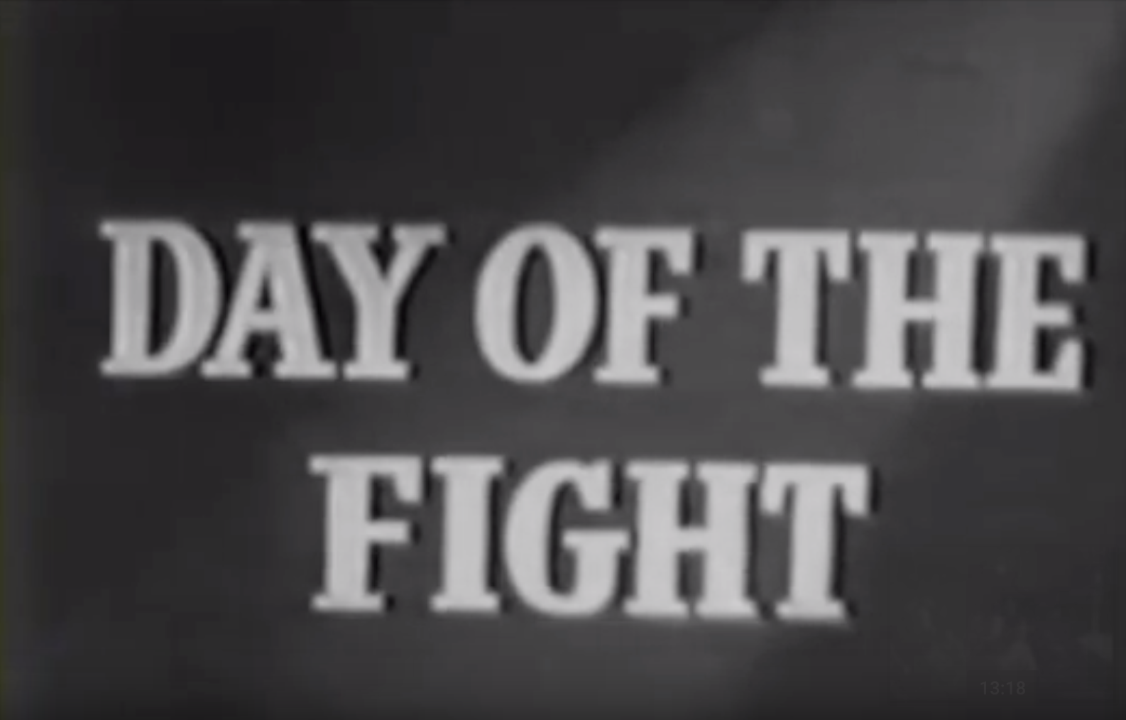Stanley Kubrick's Day of the Fight [Edited]