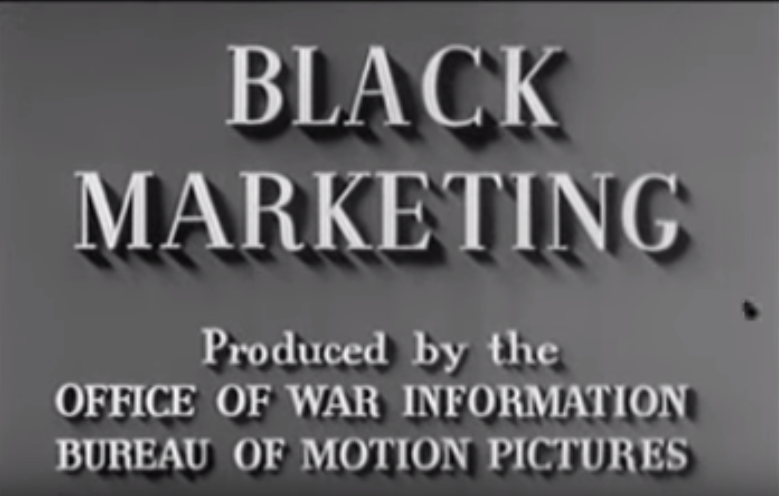Black Marketing - 1940's