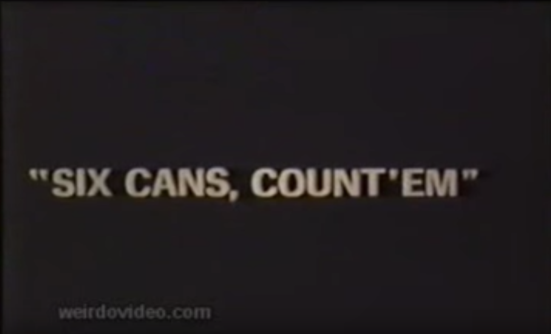 "Trigger Films for Health - ""6 Cans, Count 'Em"" - 1970's"