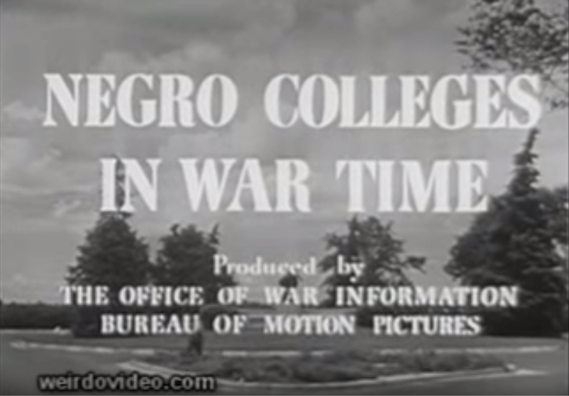 Negro Colleges During Wartime - 1944